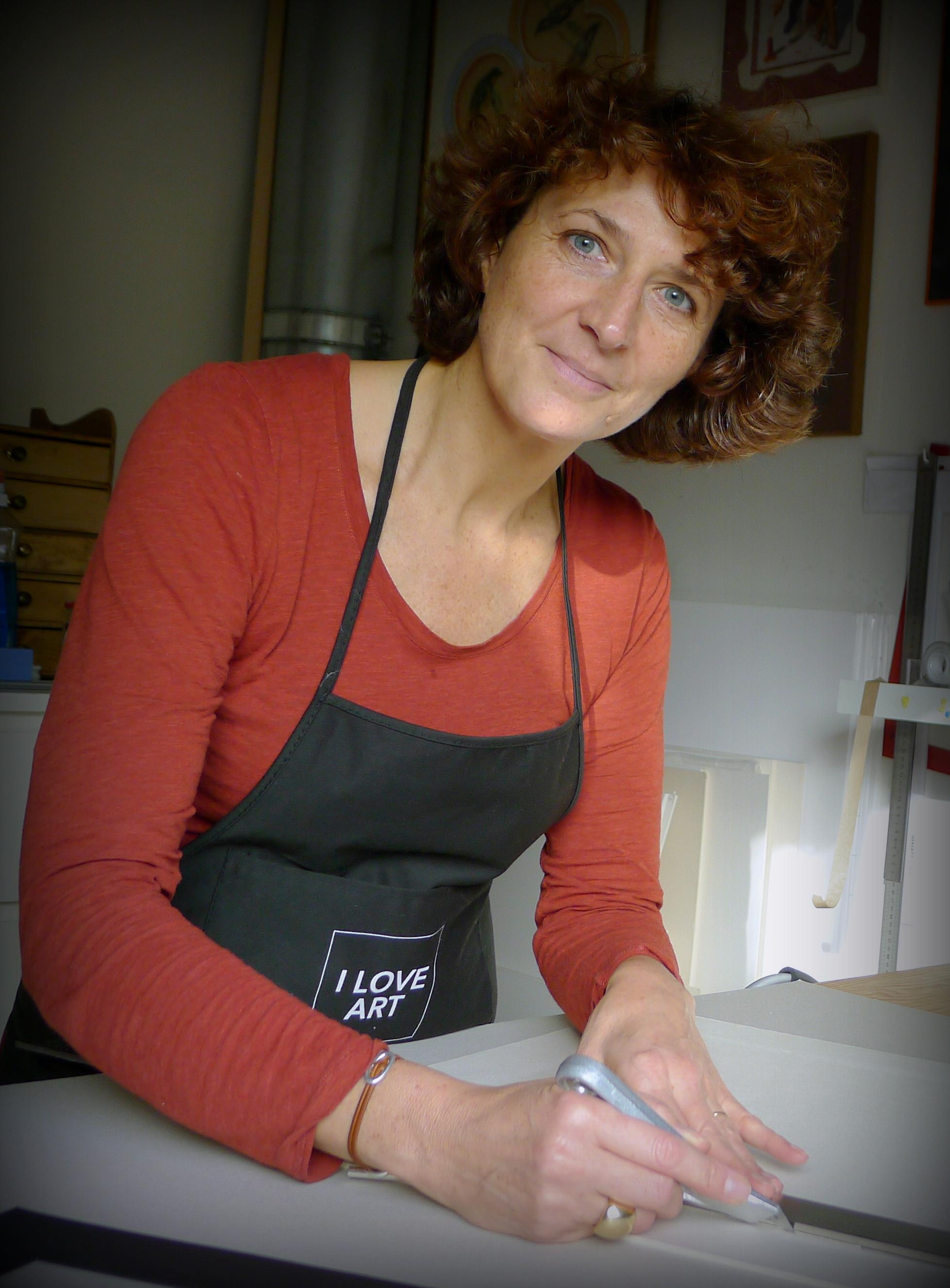 Portrait de l'artisan encadreur - Hélène Leflour