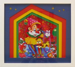 Encadrement carte représentant un clown