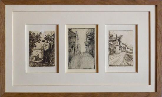 Encadrement triptyque gravures anciennes
